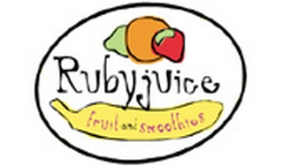 Rubyjuice Fruit and Smoothies Logo