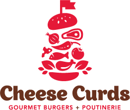 Cheese Curds Gourmet Burgers + Poutinerie Logo